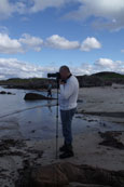On location at Melon Udrigle Beach, Wester Ross, Scotland
