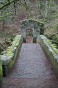 The footbridge at The Hermitage, Dunkeld, Perthshire, Scotland