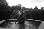 The Fountain in the centre of the maze in the grounds of Scone Palace, Scone, Perthshire, Scotland