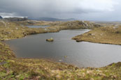 The Fairy Lochs near Badachro, Wester Ross, Scotland, where 15 American servicemen tragically lost their lives when their U.S.A.A.F. Liberator crashed whilst returning to America at the end of the Second World War. The site is a War Grave