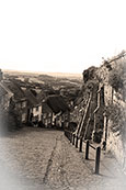 "Anyone for ""Hovis""?  Gold Hill in Shaftesbury, Dorset, England."
