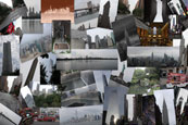 A collage of the main attractions in Manhattan, New York, USA
