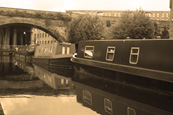 The Rochdale Canal in the City of Manchester, England