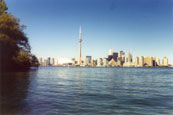 The Toronto Skyline from Lake Ontario, Canada