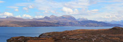 Bein Alligin and Loch Torridon with Lower Diabaig on north shore, Wester Ross, Scotland