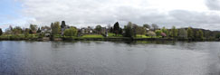 The River Tay at Bridgend, from the North Inch, Perth, Perthshire, Scotland
