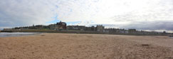 The town of St Andrews from The West Sands, St Andrews, Fife, Scotland