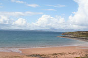 Rona & Skye from the  beach at Redpoint South near to Badachro, Wester Ross, Scotland