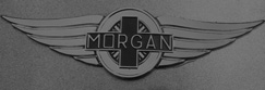 The marque of the Morgan Classic Sports Car.