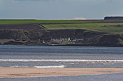 Ethie Haven at the southern end of Lunan Bay, Angus, Scotland