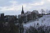 the Old Town of Edinburgh from Princes St, Edinburgh, Scotland